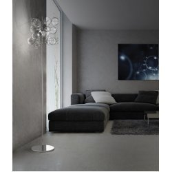 METALLUX ATOM H 180 FLOOR LAMP / COLOURED GLASS