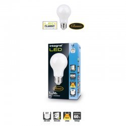 Classic Filament Globe (GLS) Frosted E27 7W (60W) 2700K 806lm Dimmable 300 deg Beam Angle