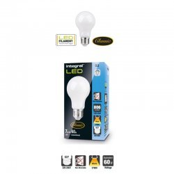 Classic Filament Globe (GLS) Frosted E27 7W (60W) 2700K 806lm Non-Dimmable 300 deg Beam Angle