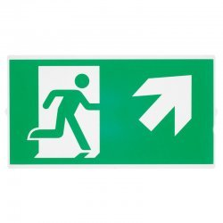 P-LIGHT Emergency stair sign, big, green